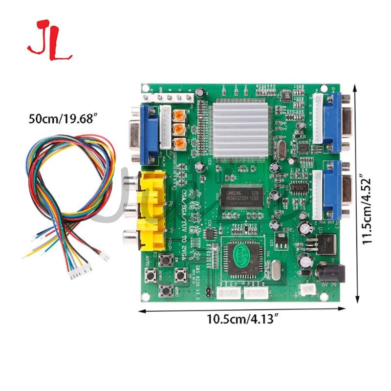 Gbms8220 аркадная игра, CGA/YUV/EGA/RGB сигнал в VGA HD видео конвертер плата (двойной выход) незащищенная защита