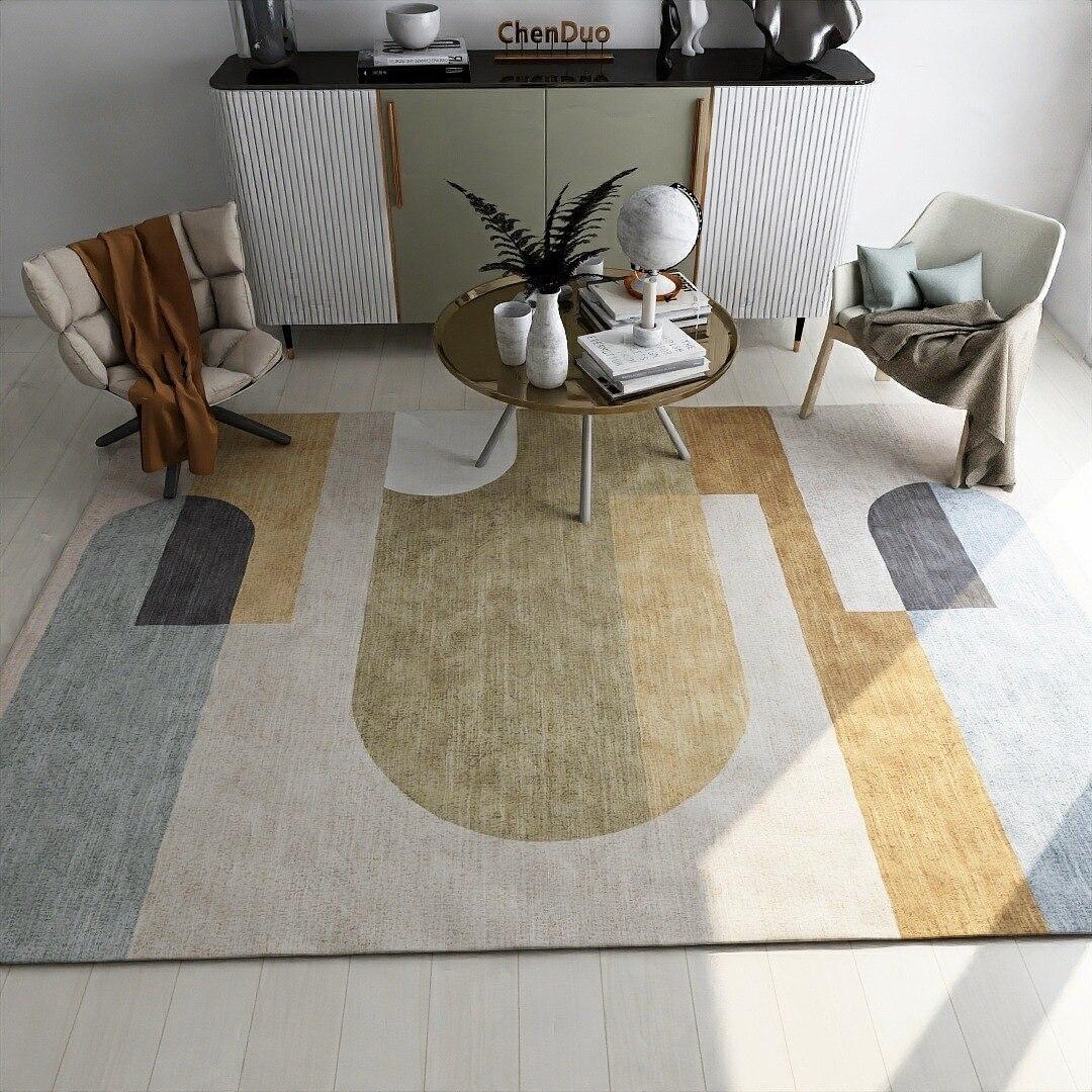 Moderno minimalista Sala Alfombra nórdicos Ins patrón geométrico Alfombra piso Alfombra para...