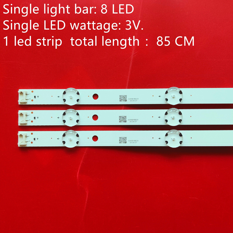 (Nuevo Kit )15 Uds 8LED 850mm tira de LED para iluminación trasera para LG 43UH6030 43UF640 HC430DGN-SLNX1 UF64_UHD_A 43LH60FHD EAV63192501