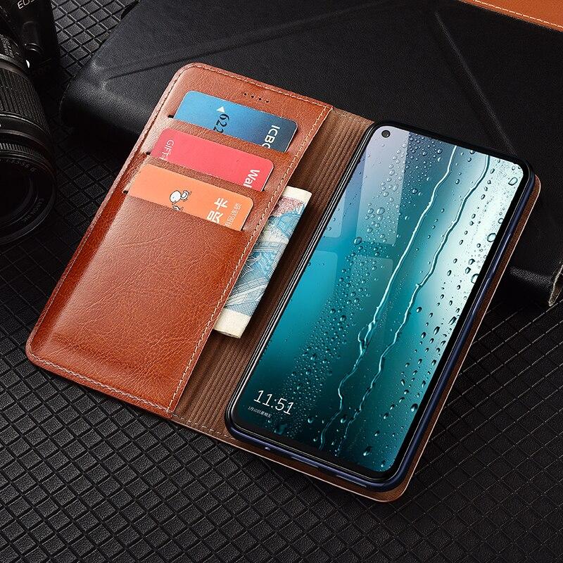 Genuine Leather Wallet Flip Case For Xiaomi Redmi Note 4 4X 5 6 7 8 8T 9 9S Max Poco F1 F2 M2 Pro X2 X3 NFC Cover Cases