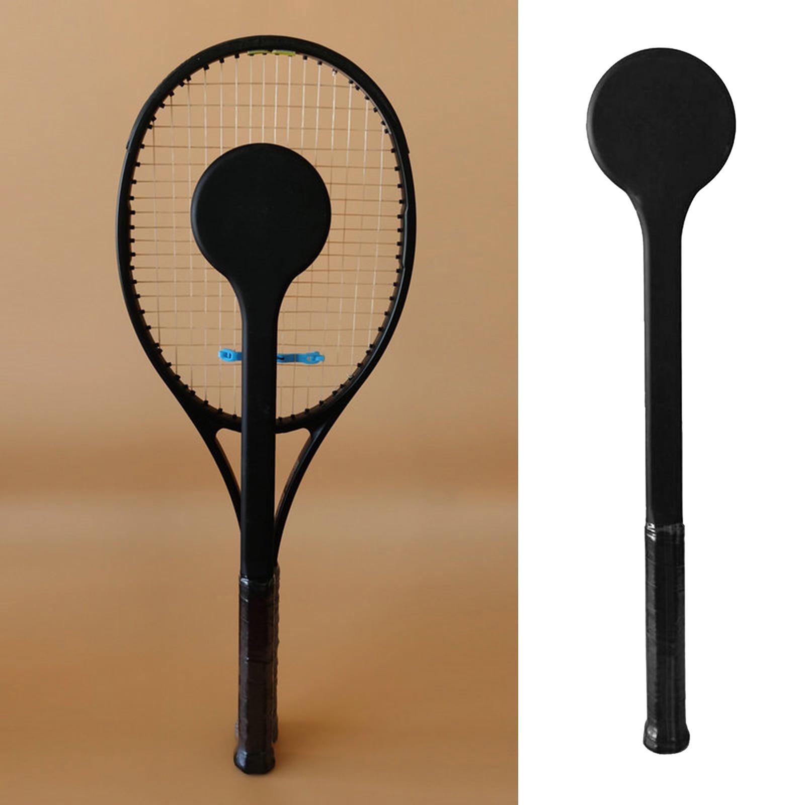 Carbon Fiber Tennis Sweet Spot Racket Spoon Swing Training Racket Accuracy Practice Racket Batting Hitting Equipment