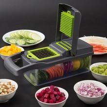 5 In 1 Food Vegetable Salad Fruit Peeler Cutter Slicer Dicer Chopper Grater Potato Cutting Device Vegetable Cutter Kitchen Tools