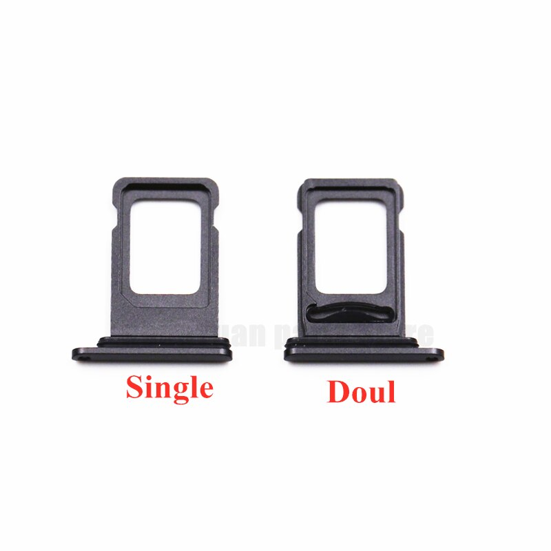 100pcs/Lot Dual Single SIM Card Tray Holder For iPhone 12 Pro SIM Card Slot Reader Socket Adapter With Waterproof Rubber Ring enlarge