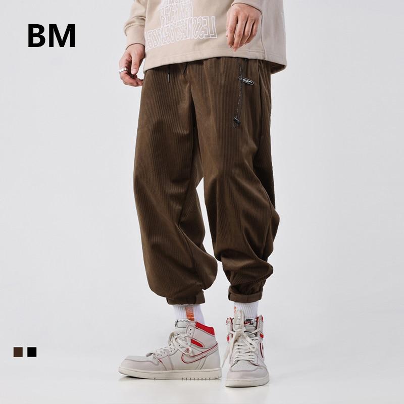 Pantalones informales de pana a la moda de Hip Hop 2020, ropa de calle para hombre, pantalones Harajuku, ropa Kpop, Pantalones rectos coreanos para hombre