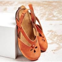 Женские сандалии, летняя обувь в стиле ретро, пляжные сандалии с крючком и петлей, удобная женская винтажная женская обувь, 2020 г., большие ...