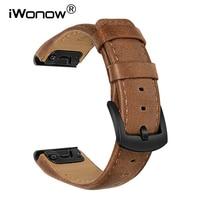 Ремешок кожаный для наручных часов, быстрая посадка, 22 мм, для Garmin Fenix 6/6 Pro/5/5 Plus/Forerunner 945/935/Clover S60/S62/inspi