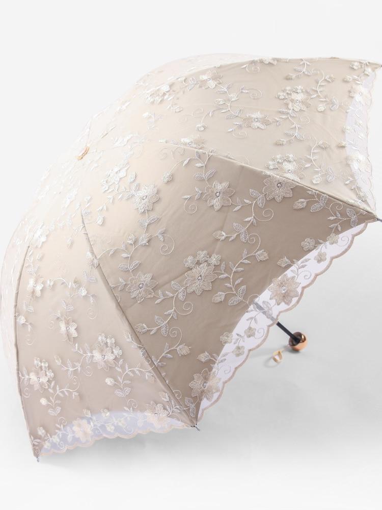 Rain Windproof Umbrella Handle Accessories Decoration Kawaii Sun Umbrella Wedding Lace Lolita Vogue Ombrello Home Garden AG50ZS enlarge