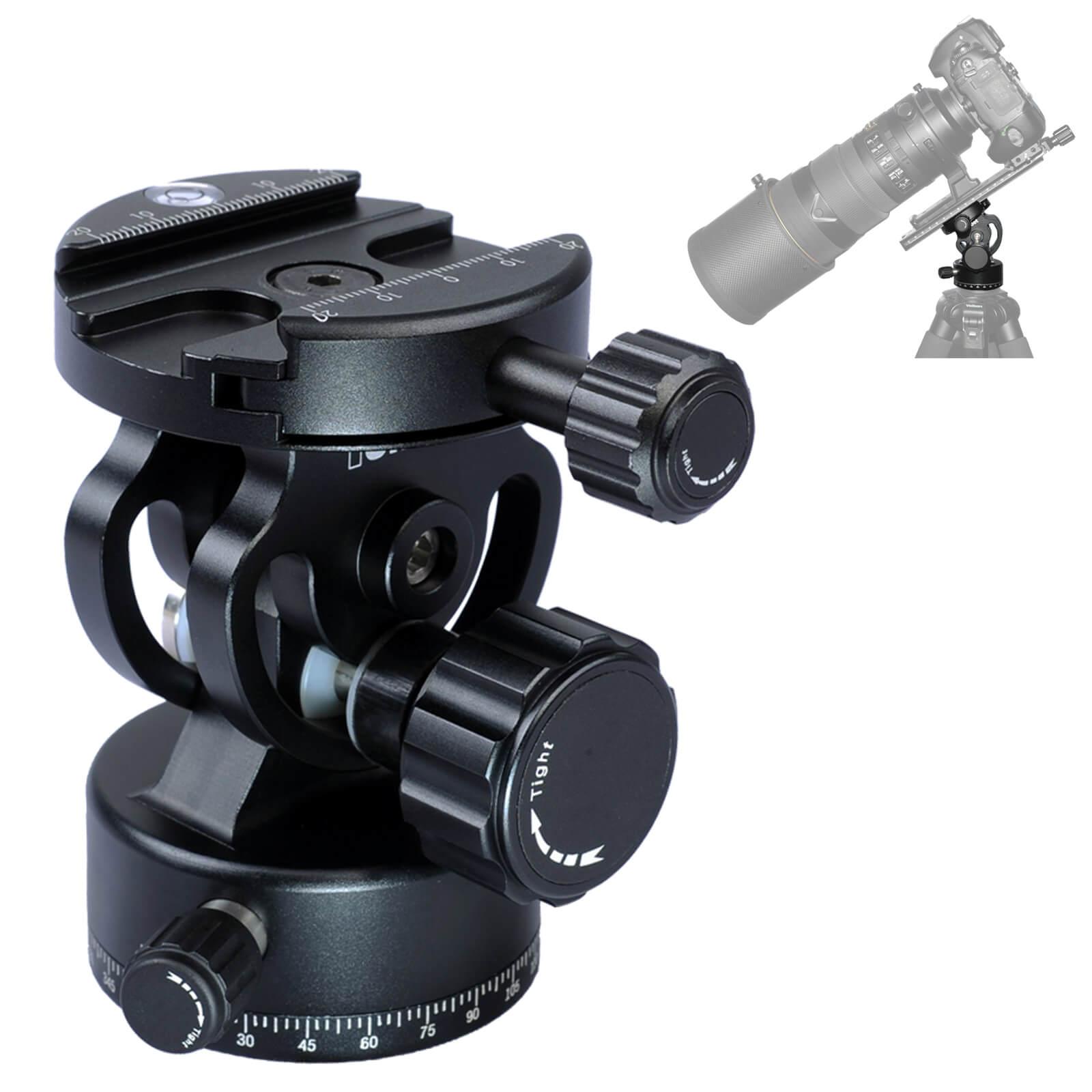 IShoot All-metal 2D 360 Panning panorámico abrazadera cabeza de bola para Arca Fit cámara de liberación rápida placa trípode Monopod