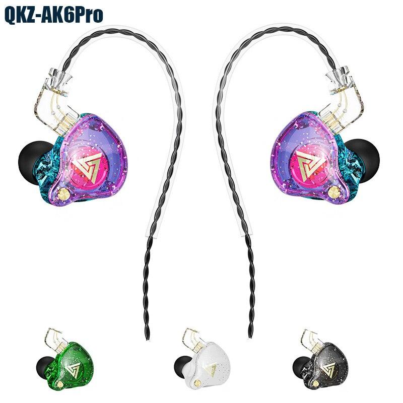 QKZ AK6 برو سماعات أذن بأسلاك HIFI باس ستيريو الصوت سماعة أذن صغيرة رياضية سماعة مع ميكروفون سماعات