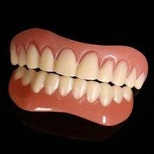 Superiore e inferiore False teeth copertura Perfetta Sorriso Impiallacciature Comfort Fit Flex Protesi Pasta bretelle falsi per Doppia fila di denti