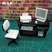 1/12 figurine scène accessoires figma ordinateur de bureau chaise de bureau shf meubles 6 pouces bjd modèle accessoires