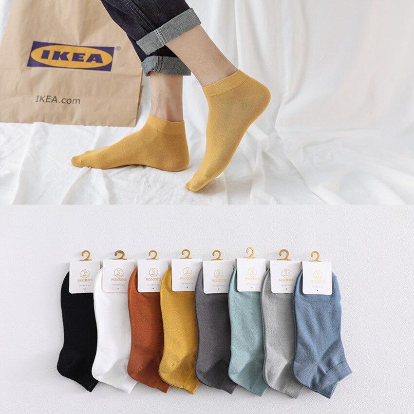 Новинка 2020, Удобные однотонные мужские носки, разноцветные летние носки, мужские классические носки, повседневные мужские классические нос...