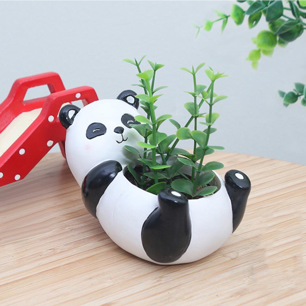 Pot de fleurs en résine Design Mini Panda   Pot de fleurs, plantes succulentes, Pots de fleurs, Ornement de bureau, décoration de jardin maison