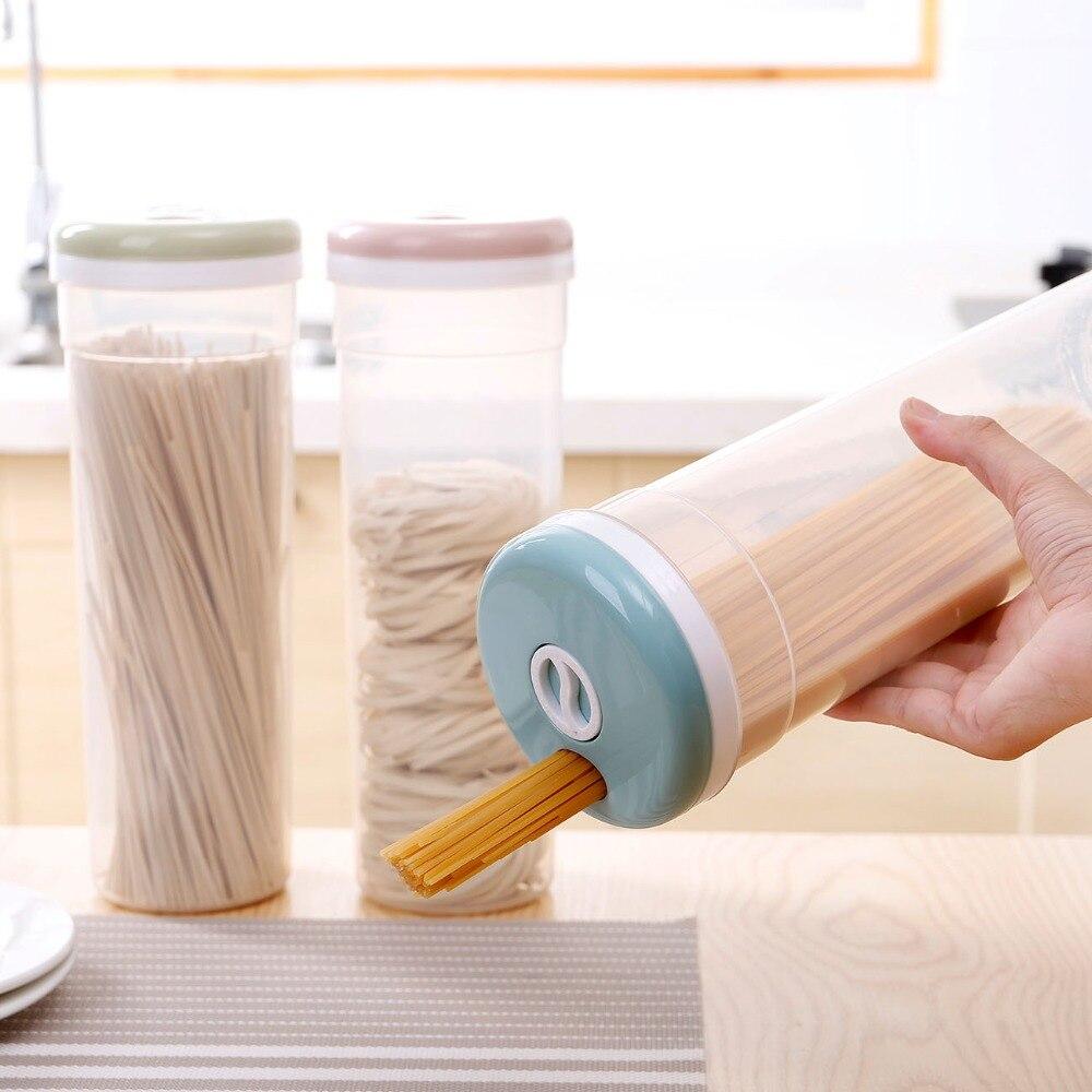 Recipiente de plástico para almacenamiento de alimentos, fideos finos, Pasta aperitivo de frutos secos, contenedor de almacenamiento de alimentos para Cocina