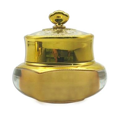 10 piezas 50g 1oz 1/2 oz corona oro de lujo crema para la cara esmalte de uñas botella tarro latas vacías envases cosméticos acrílico acné crema tarros