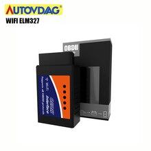 ELM327 Wifi V1.5 Obd2 herramienta de diagnóstico de coche Mini OBDII Elm 327 Obd 2 HERRAMIENTA de escáner lector de códigos para automóvil para Android/IOS/Symbian/PC