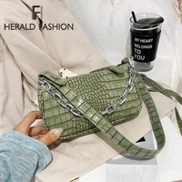 stone pattern pu leather armpit bag for women 2020 solid color metal chain shoulder handbags female travel fashion hand bag