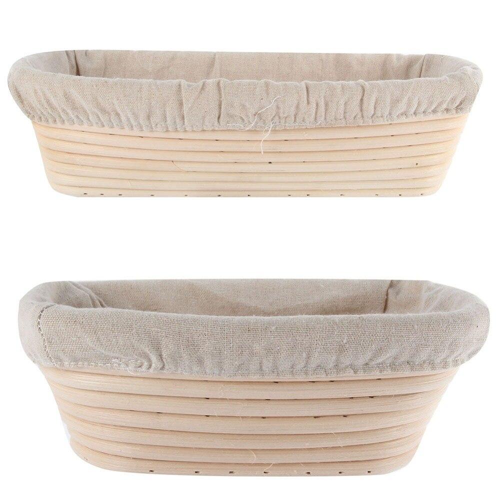 Banneton Brotform Long Bread Dough Proofing Proving Rattan Basket Liner Hot