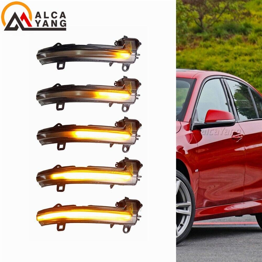 Clignotant dynamique clignotant lumière LED pour BMW X1 F48 2016-2018 2 série Active Tourer F45 F46 rétroviseur latéral lumière séquentielle