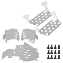 RC Car TRX4 TRX-4 Bumper Chassis Armor Protection Skid Plate for Traxxass 82056-4 Defender Option Up