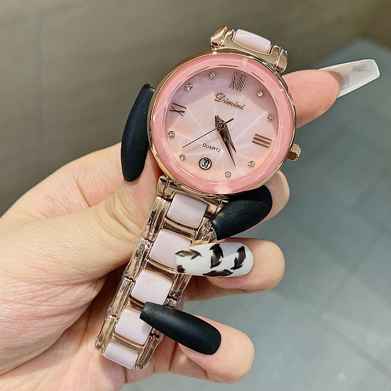 Luxury Brand Women Watches Ceramic Ultra Thin Quartz Wrist Watch Ladies Slim with Date Fashion Bracelet Gift Set montre femme enlarge