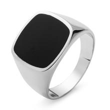 Eulonvan luxe breloques fiançailles mariage 925 en argent sterling bijoux anneaux pour hommes noir résine livraison directe S-3816 taille 6 - 13