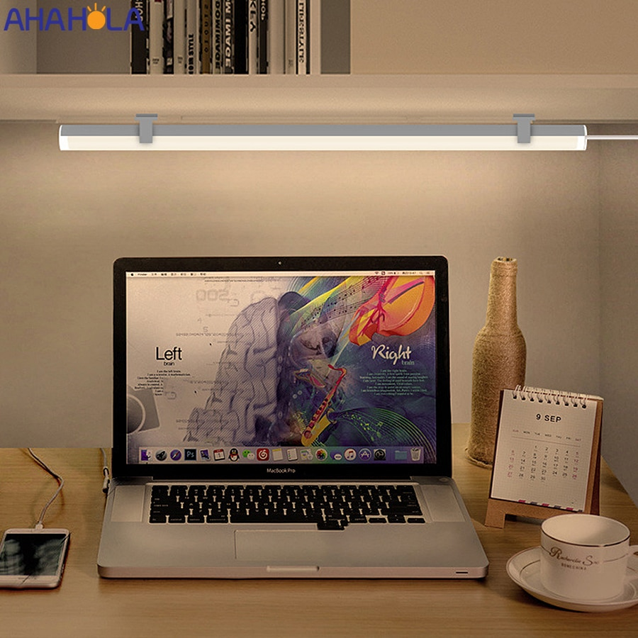 Lámparas de Mesa USB de 5v para estudio, lámpara de lectura con atenuación táctil, lámpara de pantalla de PC, barra de pantalla, lámpara de escritorio, lámpara Da Tavolo