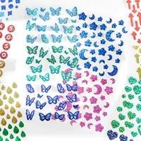 1pcs shine sticker butterfly patterns cute cartoon stickers aesthetic 8 design decorative scrapbooking bullet journa stationery