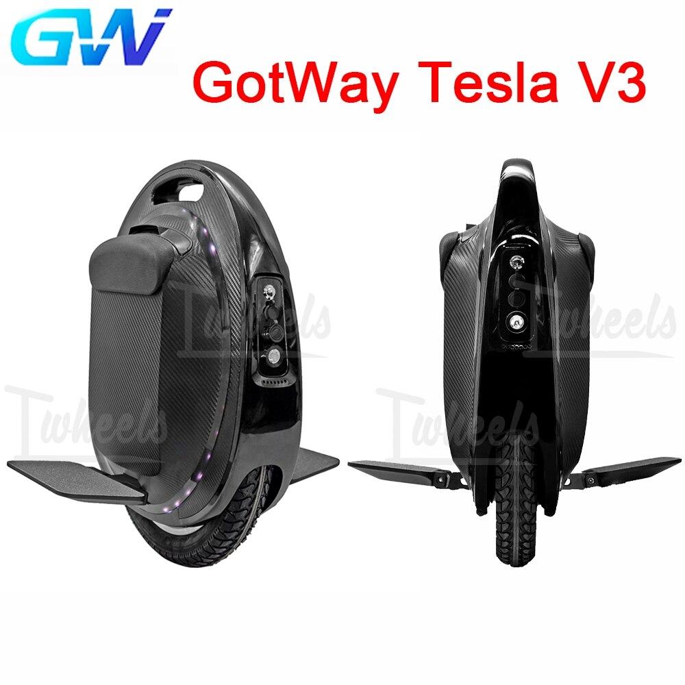 GotWay تسلا v3 بيجود تسلا T3 دراجة أحادية كهربائية 1500WH 2000 واط موتور EUC