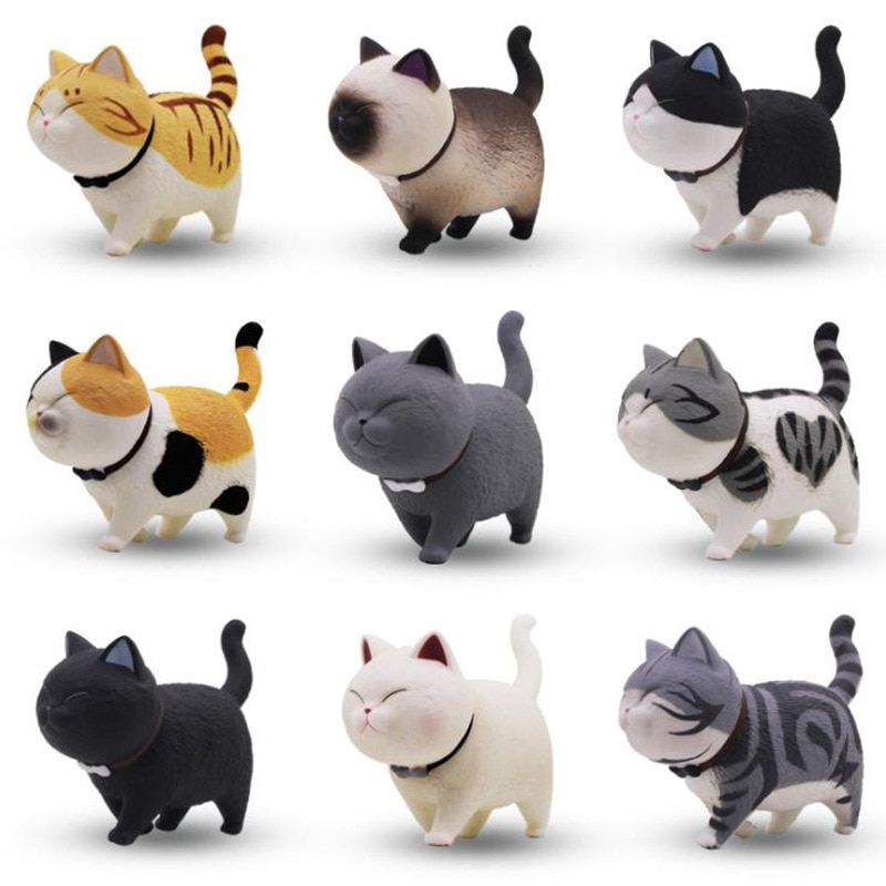 9 gato Kit de modelismo modelo Super lindo tío Ma muñeca fantasía gato decoración caja de muñeca