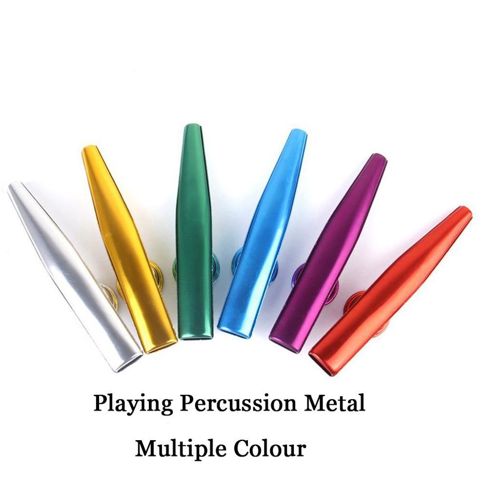 1pc metal kazoo com 5 kazoo flauta diafragma boca flauta gaita para iniciantes crianças presentes de festa adulto instrumento musical