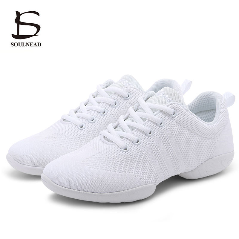 Kids Women Aerobics Shoes Sneakers White Jazz Dance Shoes Adult Size 28-44 Competitive Girls Hip-hop