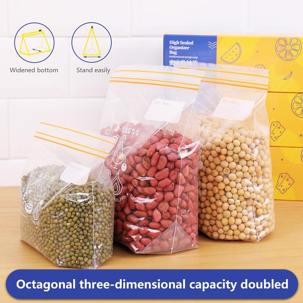 Многоразовые Пакеты для хранения пищевых продуктов с молнией, трехмерный дизайн, застежка-молния для хранения пищевых продуктов, герметичн...