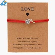 DGW amour serrure breloque corde Bracelet cadeau mode bijoux perles chaîne bijoux pour petite amie maman soeur anniversaire coeur à la mode