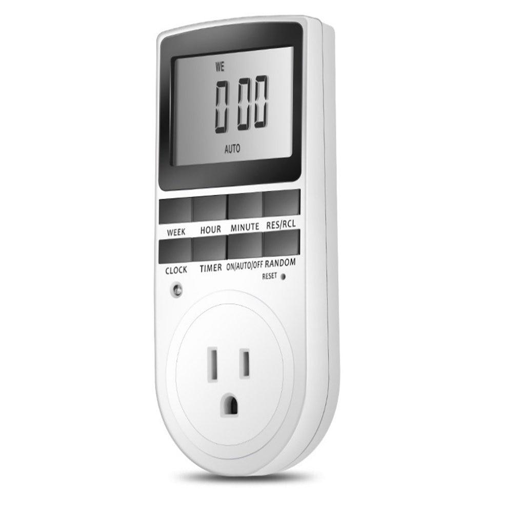 Enchufe de pantalla grande Digital, enchufe, medidor de potencia, toma de corriente electrónica, ajuste programable para dispositivo doméstico