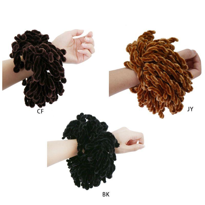 1 Pc de las mujeres musulmanas suave de terciopelo de Hijab gomas de Color sólido gran anillo pelo Pelo corbata Bun Clip de goma Flexible banda sombreros