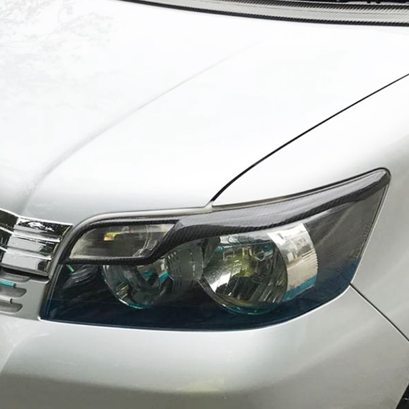 for Toyota Corolla Rumion 07-10 Auto Parts, Real Carbon Fiber, Light Eyebrow, Anti-Scratch Anti-Corrosion and Dust-Proof