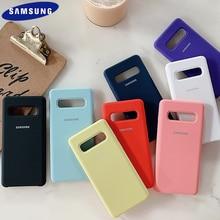 Samsung S10 Plus กรณีซิลิโคนเหลวซิลิโคนนุ่มป้องกันด้านหลังฝาครอบ Samsung Galaxy S10e S9 S8 Plus S7 Edge หมายเหตุ8 9 Shell