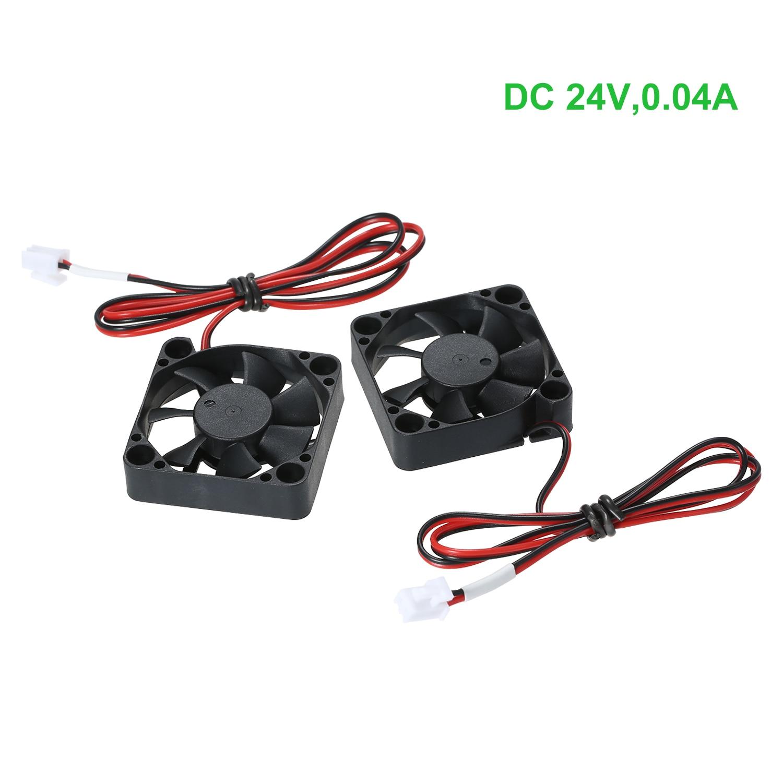 2 pces et4 24v 4010 ventilador de refrigeração 40*40*10mm 2pin terminal para anet et4 et4x et4pro peças extrusora impressora 3d hotend