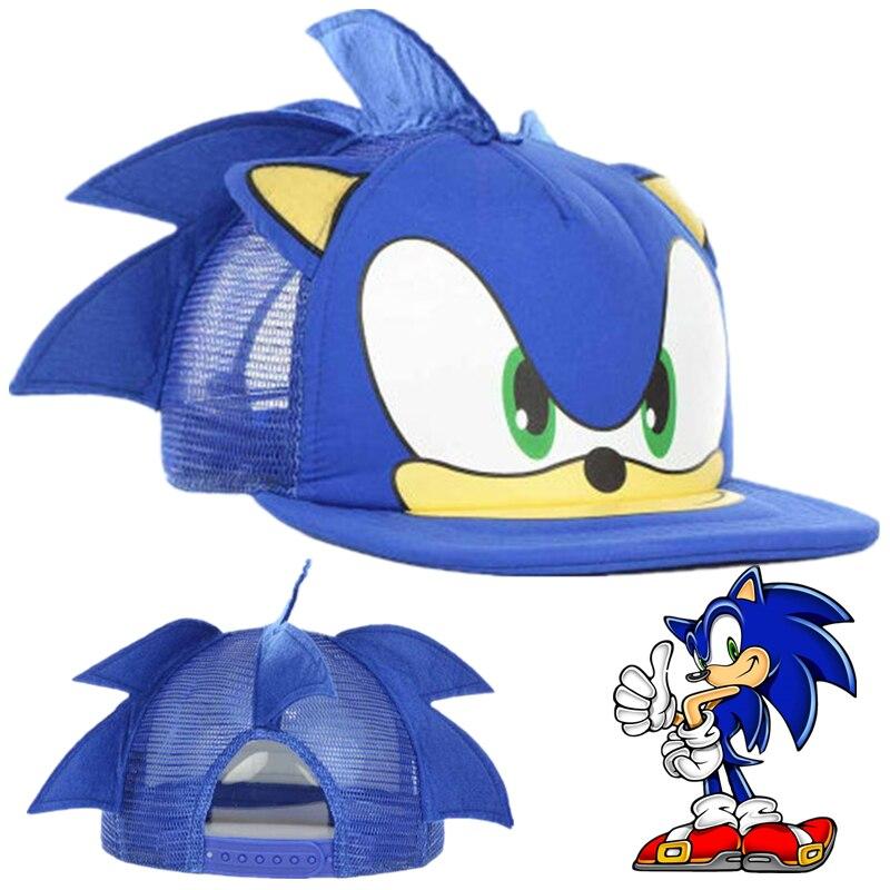 Unisex Anime Sonic el Hedgehog Cap sombreros de Cosplay