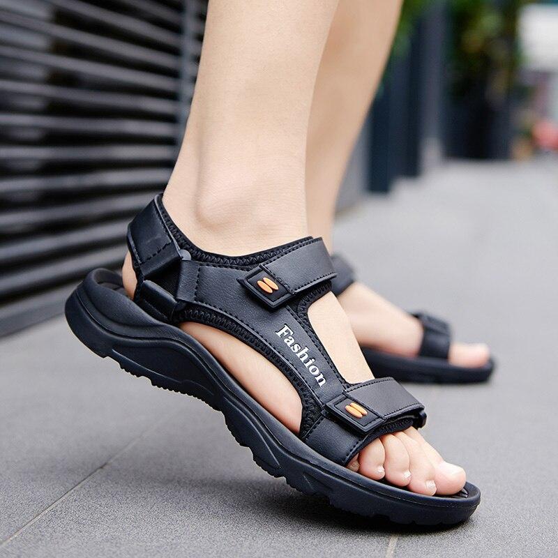 Summer Light-weight Men's Sandals Black EVA Slip On Soft Casual Sandal Shoes For Man Sandle Sandalias Hombre Big Size 47