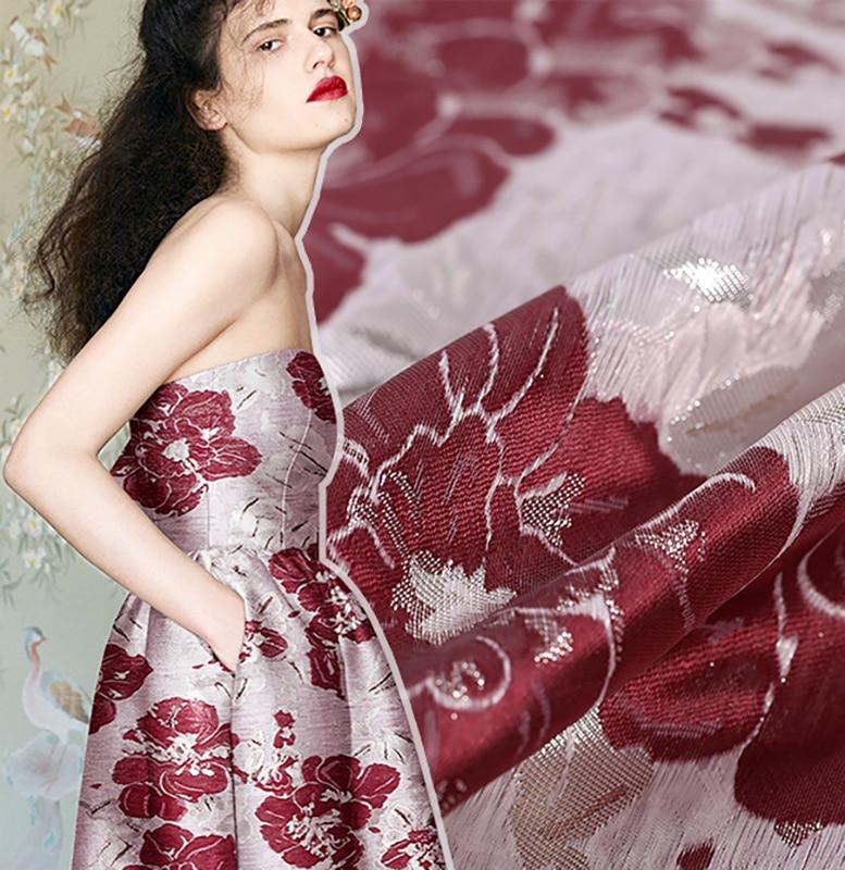 Three-dimensional jacquard fashion fabrics jujube celebrities haute couture fabrics crisp jacket dress haute couture ateliers the artisans of fashion