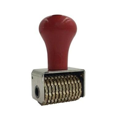 Gran número de cobre puro sello de fecha sello de rueda de marcación manual
