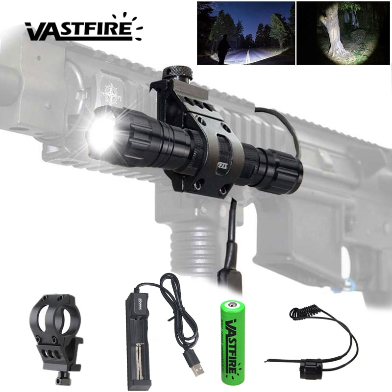 Tactical 5000LM Q5 T6Red/Green/White LED Hunting Airsoft 501B Flashlight Scout Light Outdoor Rifle P