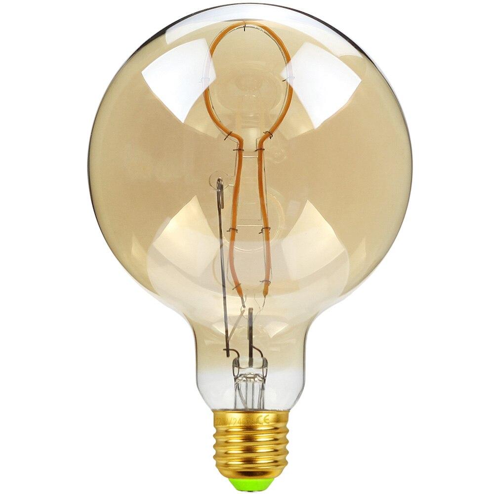 TIANFAN Led Bulb Vintage Light Bulb G125 Big Globe Spoon Led 4W  Dimmable Pendant Hanging Table Lamp Decorative Bulb 110V 220V