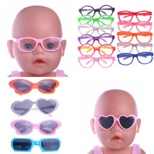 Doll Clothes Glasses 10 Colors Doll Accessories Fit 18 Inch American Doll Gift&43Cm Born Doll Baby F