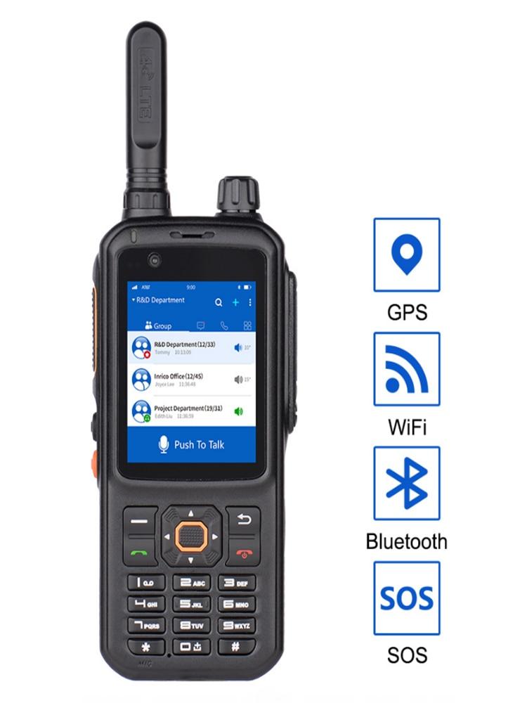 Inrico T320 Police Walkie talkie professional zello 4G Network radio GPS touch screen Walkie Talkie long range 100 km for subway