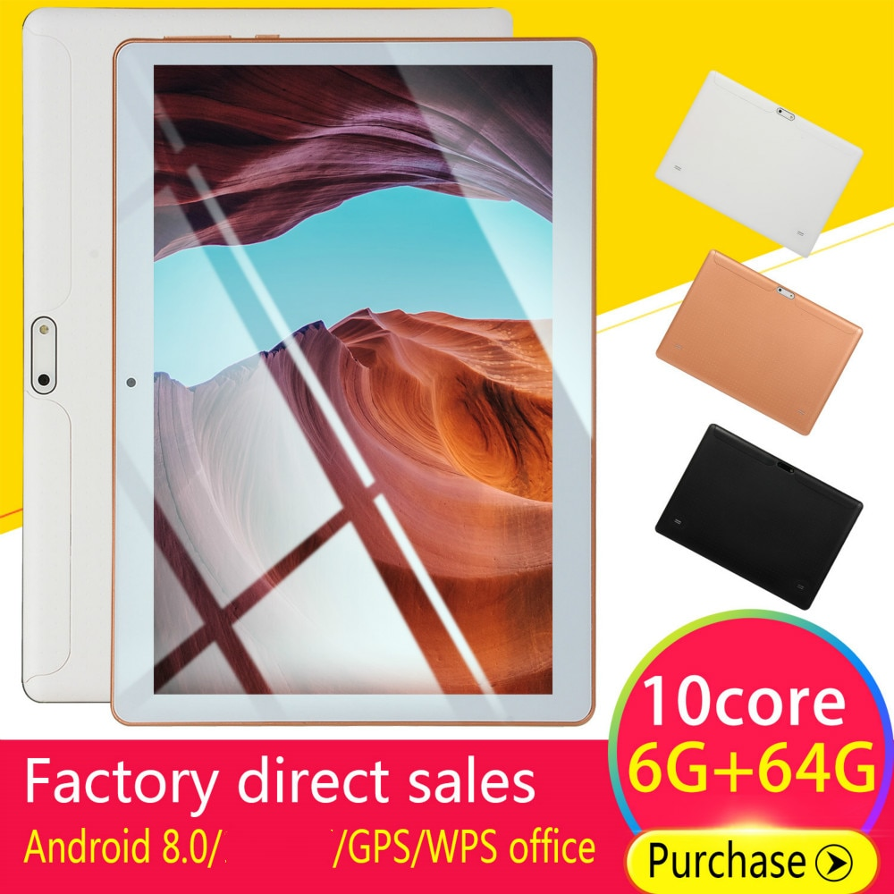 2020 Hot 10 Inch Android 8.0 RAM 6GB ROM 128G Android Tablet with Dual Card Dual Camera 4G call phon