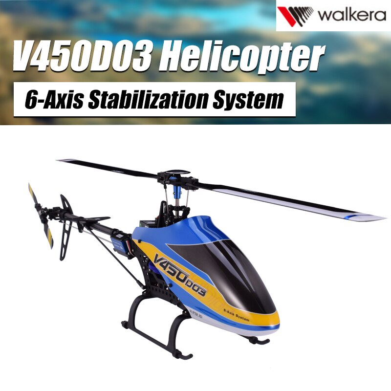 Good Walkera 450 New V450D03 6CH 3D Fly 6-Axis Stabilization System Single Blade Professional Remote