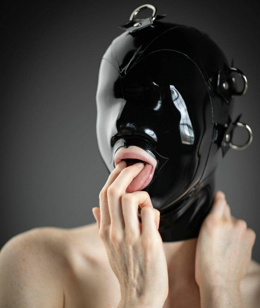 Фетиш-капюшон 100% натуральный латекс маска с открытым ртом сексуальный резиновый капюшон взрослый головной убор под заказ без серебряного круга